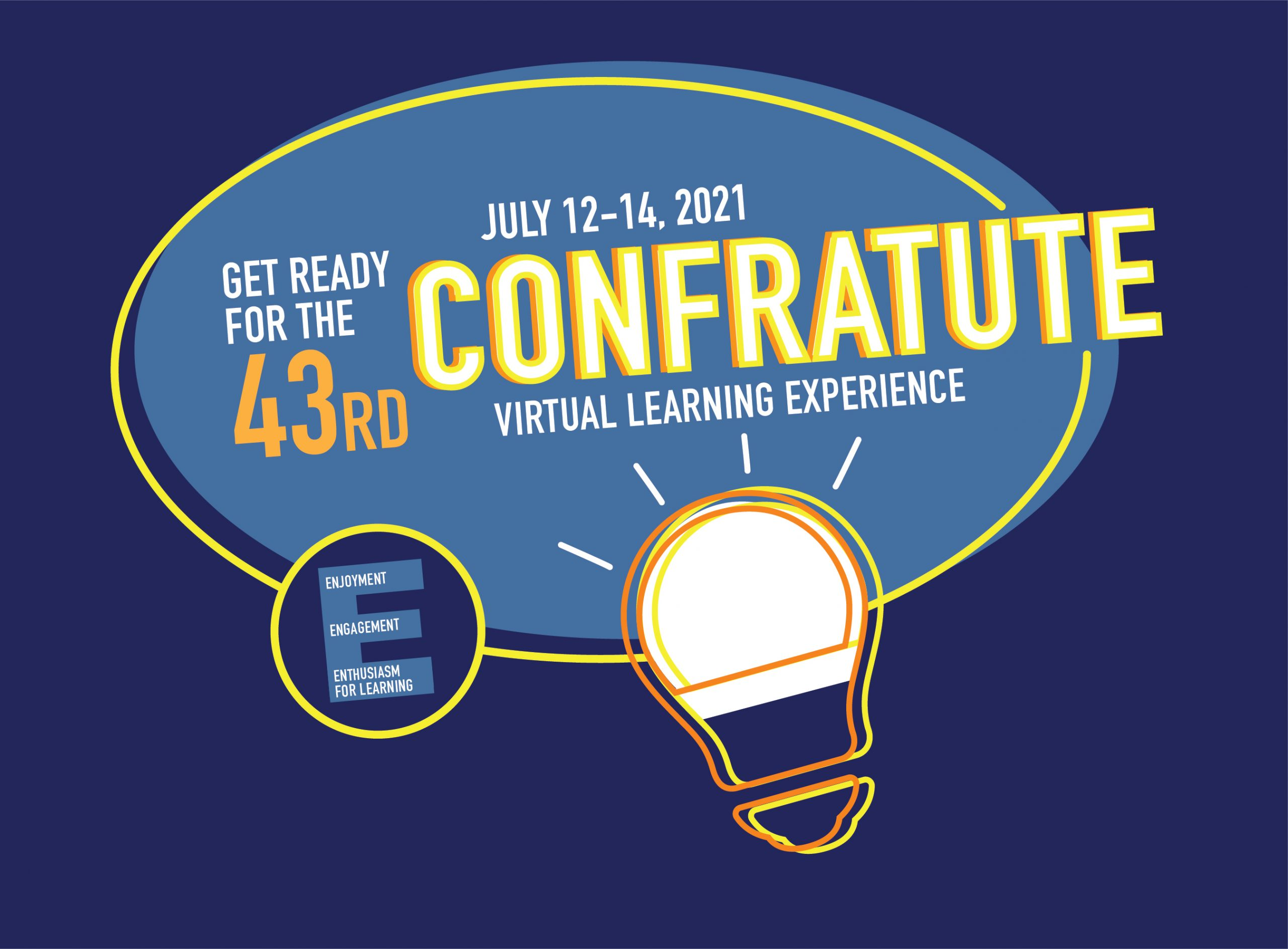 Join us July 12-14, 2021 for the 43rd Virtual Confratute at UConn